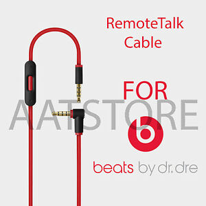 Solo 2 Dre Studio Black Replacement Audio Cable Cord w//in-line Remote /& Microphone for Beat by Dr Studio 2 Mixr Pro Solo Compatible with iPhone 4//4S//5//5S//6//6S//6S Plus