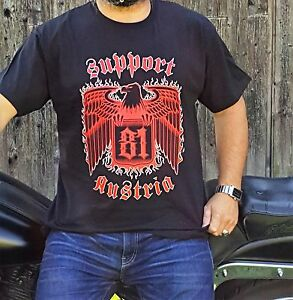 hells angels support 81 big red machine austria t shirt. Black Bedroom Furniture Sets. Home Design Ideas