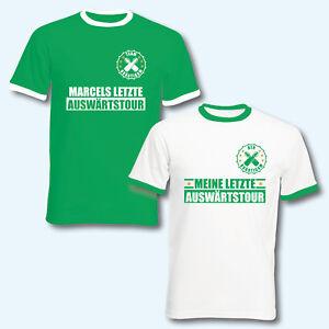 T-Shirt Trikot Retro-Shirt, JGA Auswärtstour, Junggesellenab<wbr/>schied, + Wunschname