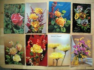 Mazzo Di Fiori Auguri.Lotto 8 Cartoline Mazzi Di Fiori Augurali Sinceri Auguri D Epoca 2