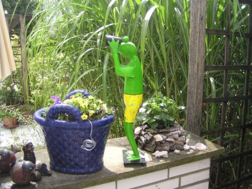 52 x 14 x 15 cm Jardin Tendeur Métal Décoration DECO-personnage grenouille