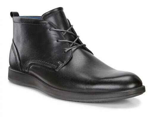 ECCO Jared Mens Formal Leather Black Chukka Boots UK Size 9 / EU 43