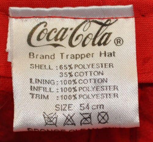 Coca-Cola Coke Trapper Hat Warm Baseball Cap Hat Ear Protection Earmuffs