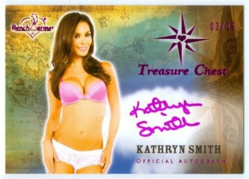 "KATHRYN SMITH ""PINK AUTOGRAPH CARD #0325"" BENCHWARMER TREASURE CHEST 2014"