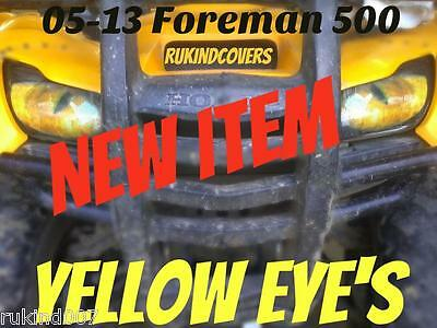 Honda Foreman TRX500 2005-13 GREEN EYE/'S Headlight Cover/'s  RUKINDCOVERS