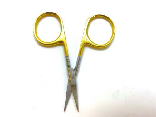 3,5 In lame en acier pour fly tying Pêche Ciseaux Avec Micro Pointe dentelée