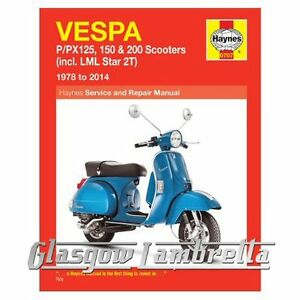 Haynes-Manual-Vespa-P-PX-125-150-amp-200-Scooters-1978-2014-amp-LML-2T-stickers
