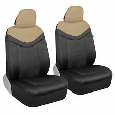 Motor Trend Luxesport Car Seat Covers Beige Faux Leather Mesh Neoprene Front Fits Jeep Cherokee