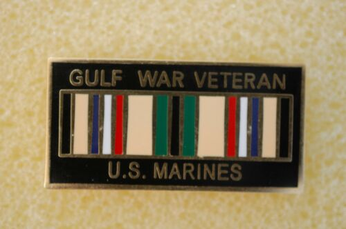US USA USMC Marine Corps Gulf War Veteran Military Hat Lapel Pin