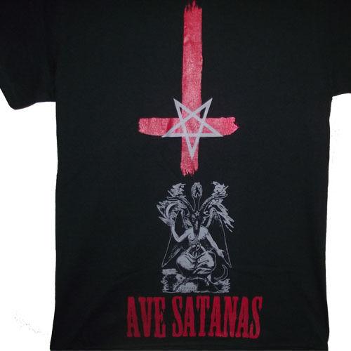 Inverted cross inverted pentagram baphomet ave satanas sigil of bapho...S to 2XL