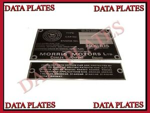 Brand-New-Good-Quality-Morris-Engine-Instruction-Data-Plate