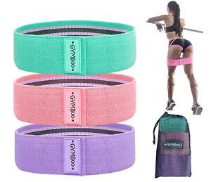 Bandas-De-Resistencia-De-Mujer-3PCS-Tela-Booty-Gluteos-Hip-ejercicio-de-yoga-gratis-envio-a-EE-UU