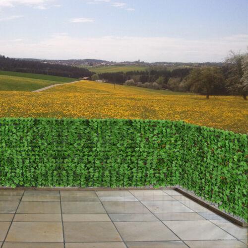 300x100 cm leaf Windscreen blind patio balcony fence sight protection