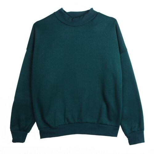 Damen Herren Langarm Hooded Jumper Baseball Pullover Pulli Sweater Sweatshirt GS