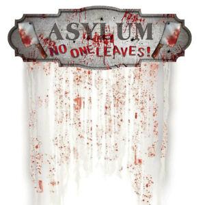 Halloween-Door-Curtain-Decoration-Hanging-Prop-Horror-Party-Dead-Inside-AU