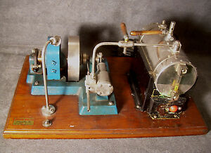 Antique-Jensen-Steam-Engine-1930-039-s-Electric-Toy-Generator-Whistle-Jeannette-Pa