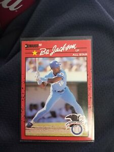 1990 Donruss Bo Jackson #650 Baseball Card. ERROR card!! Rare and valuable. Mint