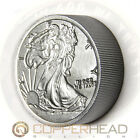 Two Pound (32oz) Iron Bullion Round Walking Liberty .999 Fine Iron Coin Bar 1-16