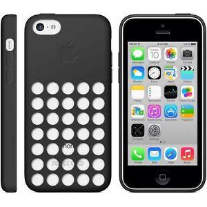 Original-Genuine-Apple-iPhone-5C-Silicone-Dot-Case-Cover-Black-MF040ZM-A