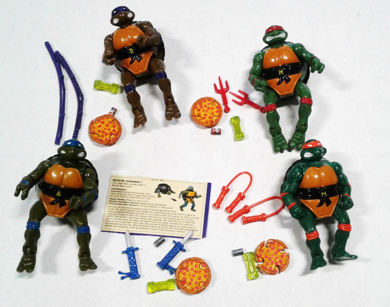 VTG 1992 TMNT Ninja Turtles Mutatin Don Raph Leo Mike Complete Mixed Lot Used
