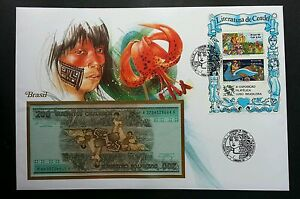 Brazil Fairy Tales LUBRAPEX '86 1986 Flower King Peacock FDC (banknote cover)