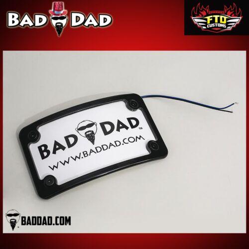 Bad Dad Gloss Black Premium License Plate Frame With LED Lights 2009-2018