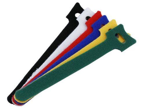 120 6 inch Cable Tie Fastening Tape Strap Mix Color 120 pcs Hook and Loop