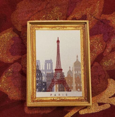 Paris France Eiffel Tower Travel Christmas Ornament//Magnet//Dollhouse Miniature