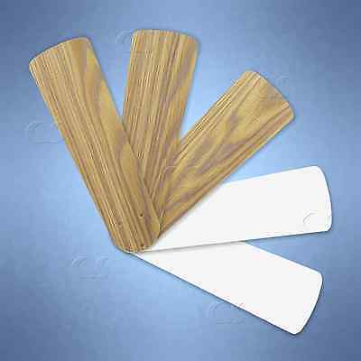 "Replacement Blades for 38"" - 42"" Ceiling Fan 5/pk Weathered Oak / White _328-B07"