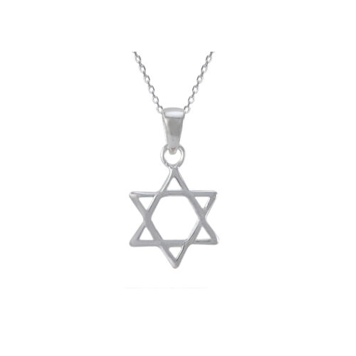 Mini Jewish Star of David Pendant 925 Sterling Silver Necklace on 18 Inch Chain