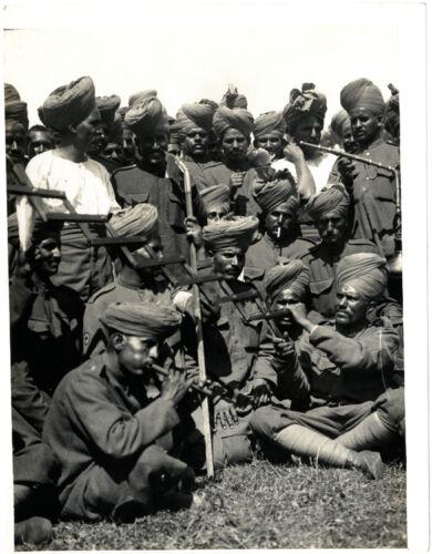 "British Army Indian 6th Jats Musicians 1915 World War 1 5x4/"" Reprint Photo bl"