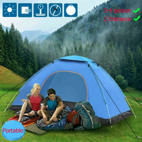 4 Person Instant Pop Up Tent Camping Festival Hiking Shelter Family Portable Bag