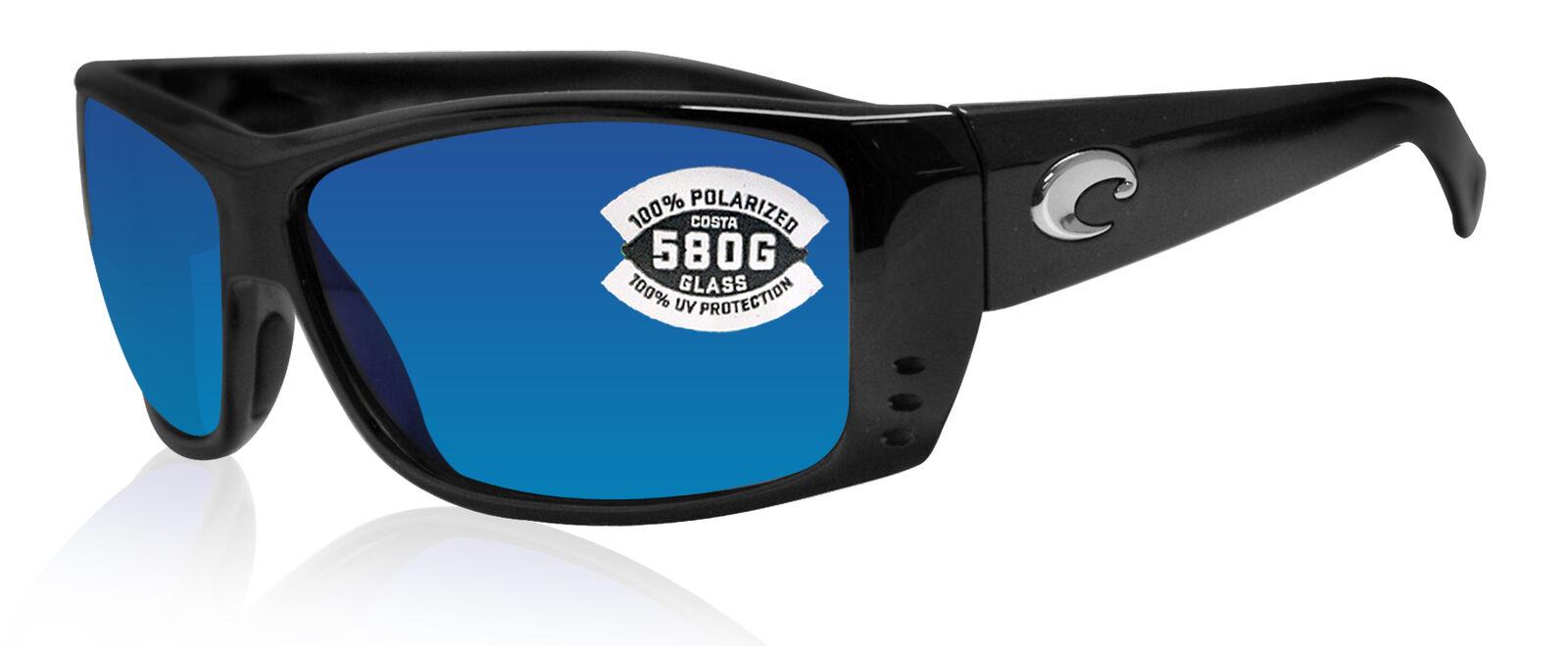 New Costa Del Mar Cat Cay Black Blue 580G Polarized Sunglasses AT 11 OBMGLP $229