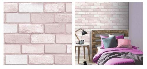 Arthouse Diamond Glitter Brick Pink Vinyl Wallpaper 260005