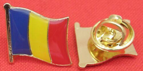 Romania Romanian Country Flag Lapel Hat Tie Pin Badge România Brooch Souvenir