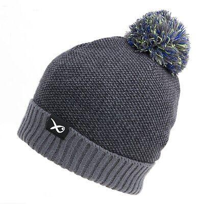 Fox Green Silver Lined Bobble Hat CPR990 Bommelmütze Wintermütze Mütze