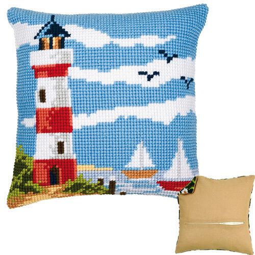Lighthouse Scene PN-0008601 Cross Stitch Cushion Kit Vervaco