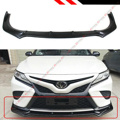 EPARTS 3 Pieces White Front Bumper Lip Spoiler Splitter Body Kit Protection Fit For 2018-2020 Toyota Camry SE XSE