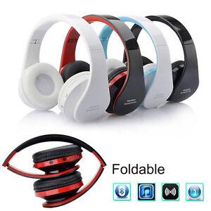 Wireless Bluetooth Headset Stereo Headphone Earphone for iPhone Samsung Foldable