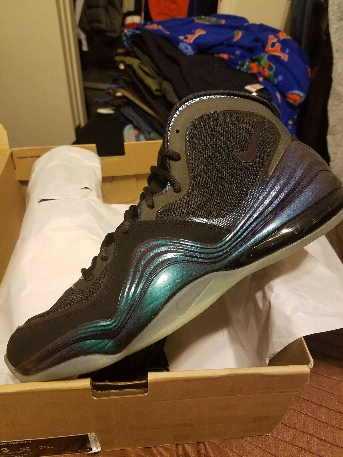 Nike Air Penny V Eggplant Size 13