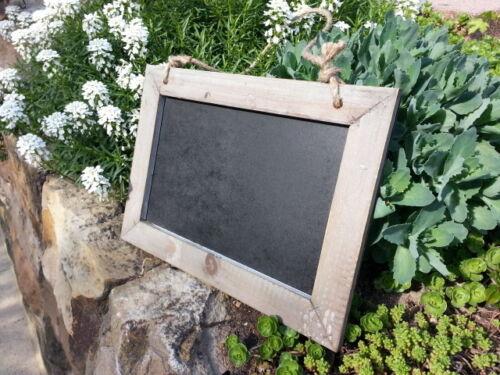 Tableau Craie Tableau Sterzing Shabby Design 31x25 cm olive//noir sisalband