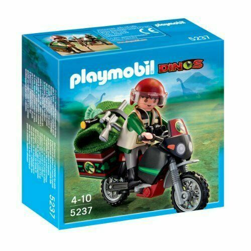 Playmobil 5237 Dinos Explorer With Motorcycle For Sale Online Ebay