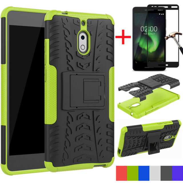 innovative design 6a653 d8aef For Nokia 2V/2.1 Case Shockproof Armor Dual Rugged Hybrid Stand Rubber TPU  Cover