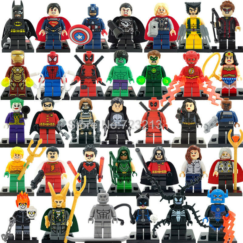 Fit for LEGO   34 PIECES SET Avengers Superhero Marvel DC Mini Figure Minifigure