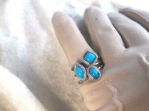 89daa086145880 Image is loading SLEEPING-BEAUTY-TURQUOISE-STERLING-SET-OF-3-STACK-