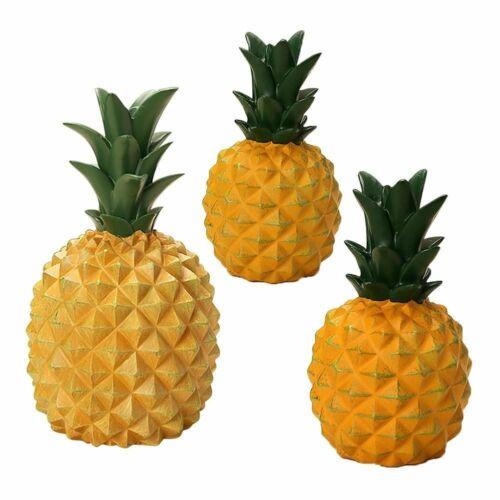 Creative Simulation Pineapple Resin Piggy Bank Ornament Sculpture Can Decor Gift