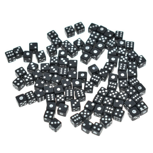 100 Pcs 6-Sided Games Dice Set Round Corner Dice for Birthday Party Favor Gift