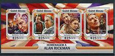 Guinea-Bissau 2016 MNH Alan Rickman 4v M/S Johnny Depp Helen Mirren Stamps