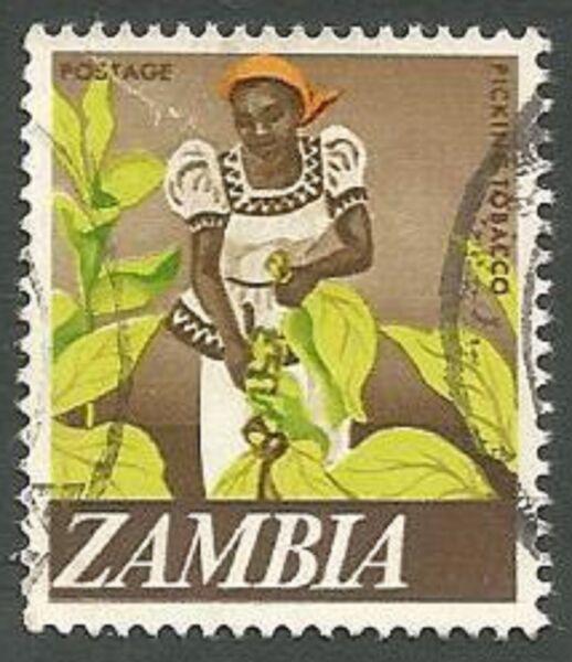 FidèLe La Zambie Scott # 44, Femme Tabac Picker, Utilisé, 1968 Blanc De Jade