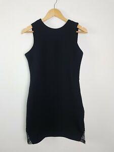 ASILIO Back to Back Little Black Dress Women's Size AUS12 US8 EU40 Party Club